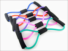 High Quality 1PC Resistance Bands Tube Workout Exercise For Yoga 8 Type Sport Bands New 56TY