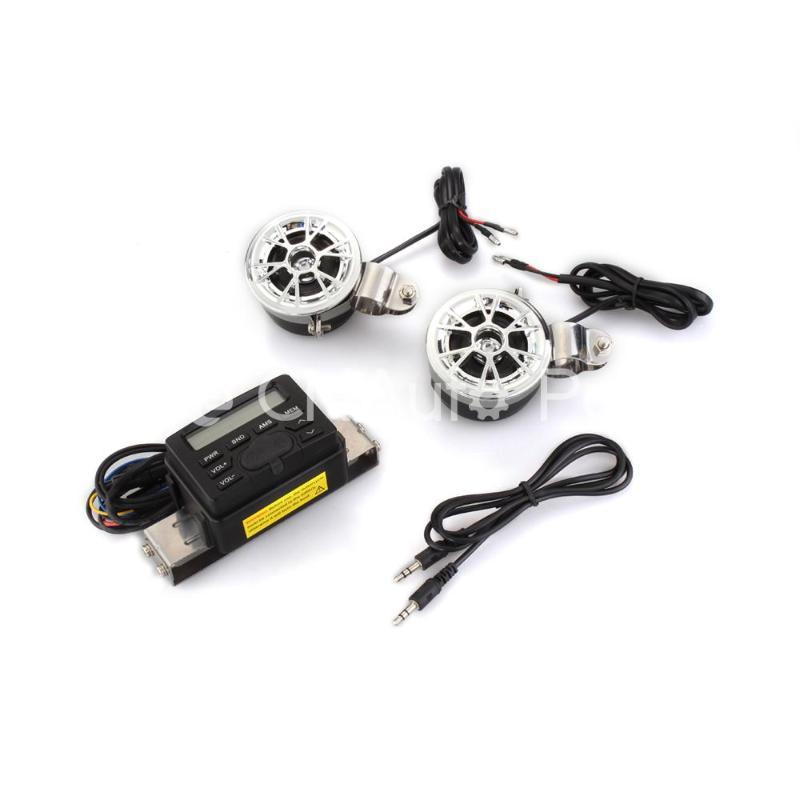 Motorcycle Audio FM Radio MP3 Handlebar Stereo Speaker Amplifier Sound System(China (Mainland))