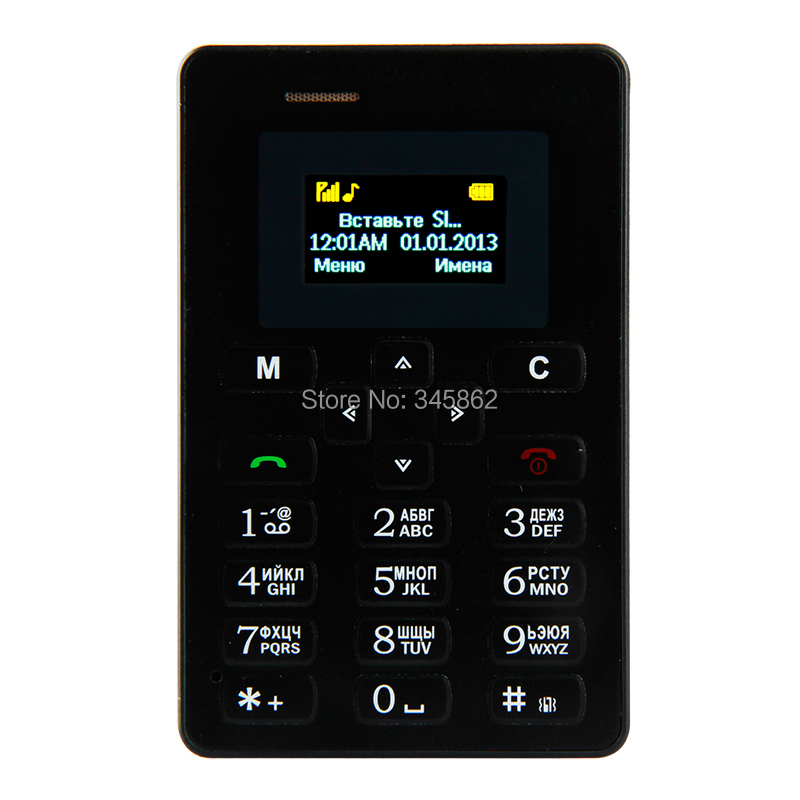 product AEKU M5 Card Mobile Phone 4.5mm Ultra Thin Pocket Mini Phone Dual Band Low Radiation