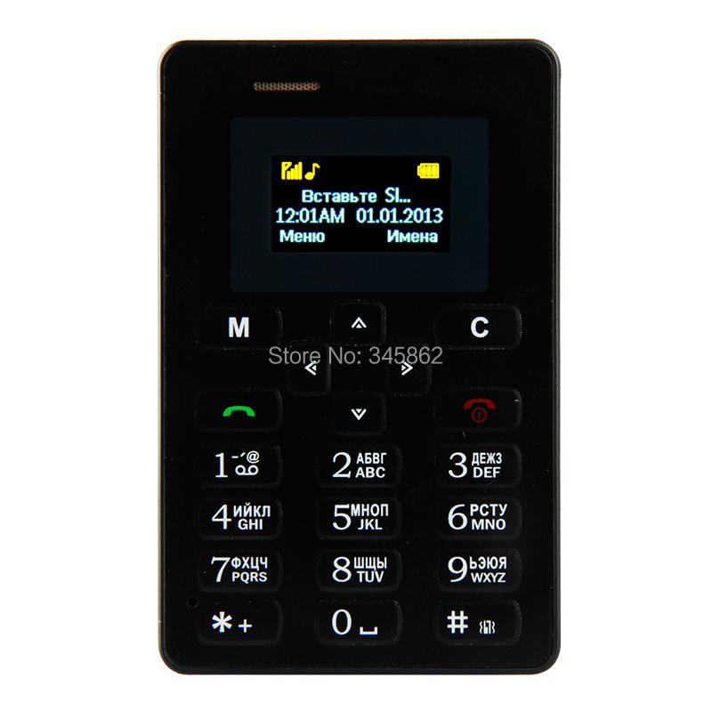 Russian Keyboard!!! AIEK M5 Card Mobile Phone 4.5mm Ultra Thin Pocket Mini Phone Qual Band Low Radiation AEKU M5 Card Cell phone(China (Mainland))