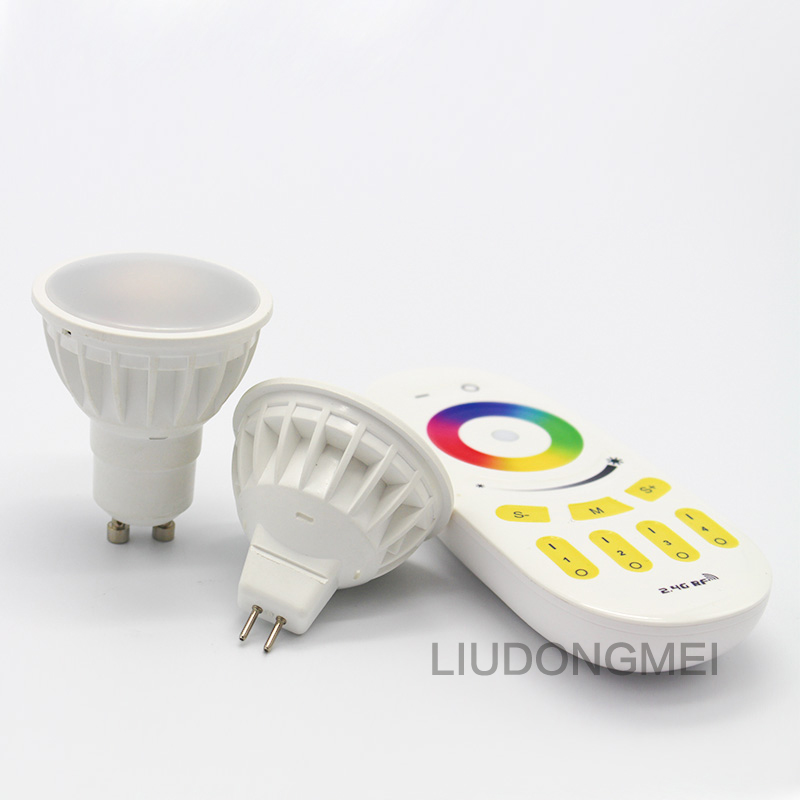 Milight LED Lamp Bulb mr16 GU10 RGBW RGBWW LED Light 85-265V 4W / Four Zone Remote / Wifi Controller Wifi APP Control(China (Mainland))