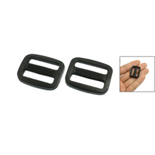 "Webbing 25/32"" Black Hard Plastic Slide Rectangle Buckle 10 Pcs Cool Fashion Free Shipping(China (Mainland))"