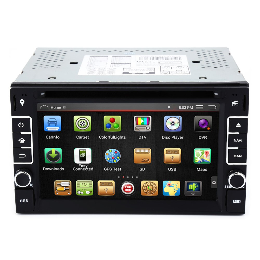 """New 6.2"""" Android 4.4.4 Cortex A9 CPU 1GB RAM Car DVD Stereo Video Player GPS Navigation Console with Quad-Core Capacitive Screen(China (Mainland))"""
