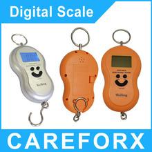 Promoción! balanzas electrónicas portátiles 40 kg / 10 g cuatro colores balanza digital de mini pesas portátiles LED balanzas electrónicas