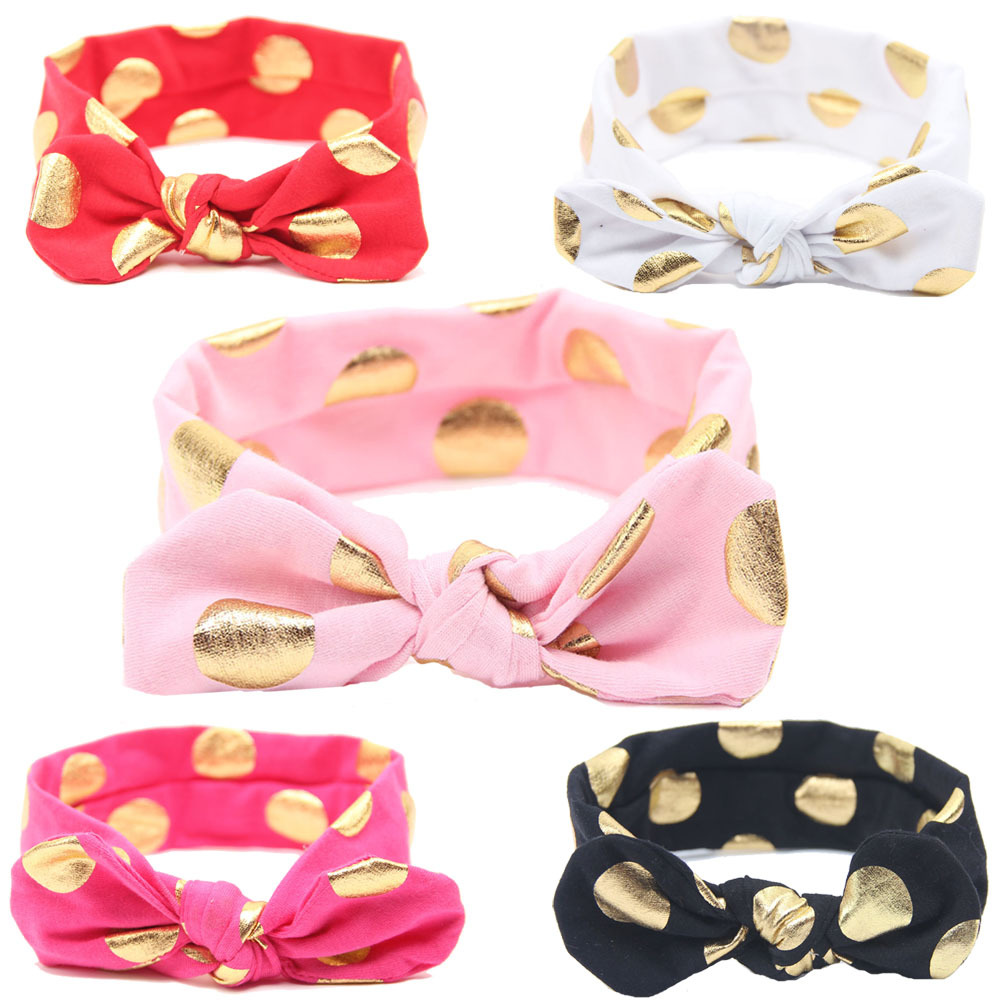 10PCS Baby Cotton Headband Girls Knotted Head Wraps Jersey Knit Headwraps Gold Headband for Newborn Infant Hair Accessories(China (Mainland))