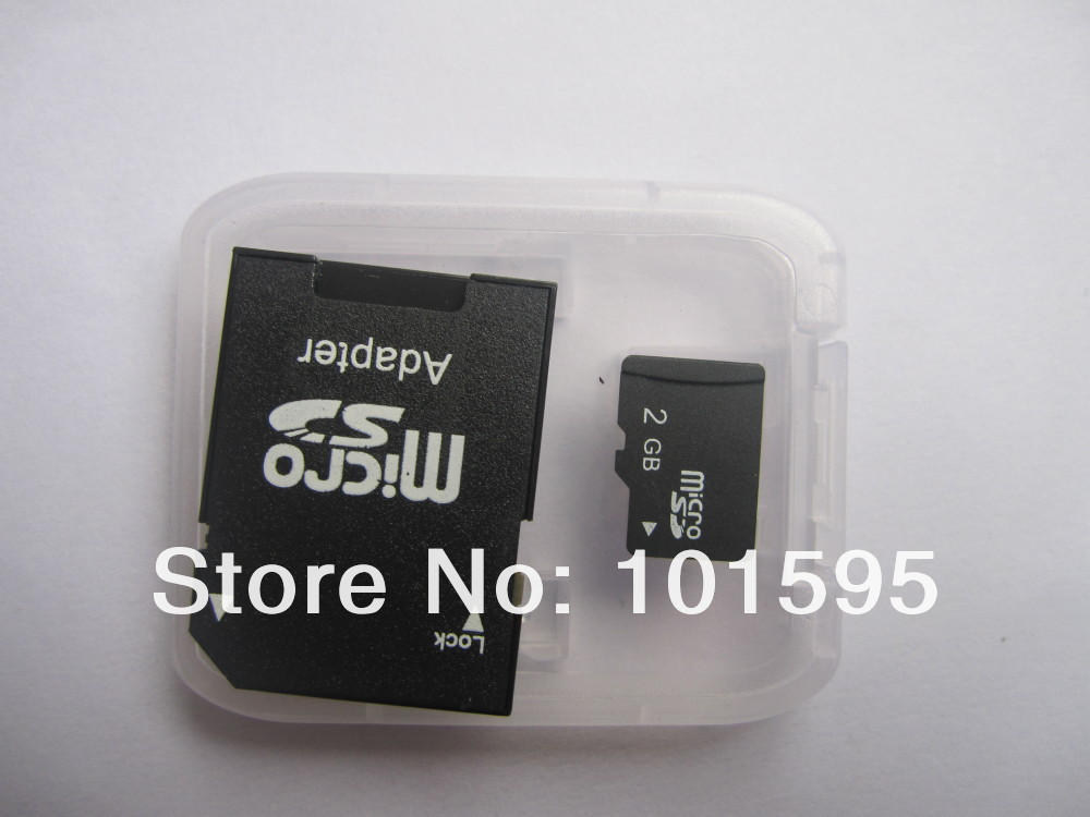 Memory cards Micro SD card 2GB Class 4 Memory cards Microsd TF card Full Capacity + free Adapter free shipping(China (Mainland))