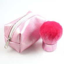Professional Makeup Brush Kabuki Powder Brush High Quality Goat Hair With Pouch Case Gift Black Pink