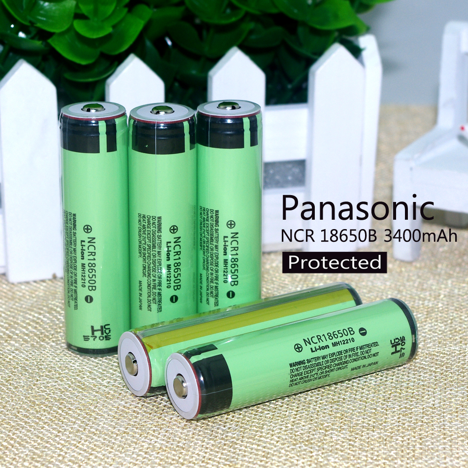 Гаджет  New 2015  5PCS  Original protected 18650 3.7 V 3400 mAh rechargeable battery for Panasonic batteries NCR18650B Industrial use None Бытовая электроника