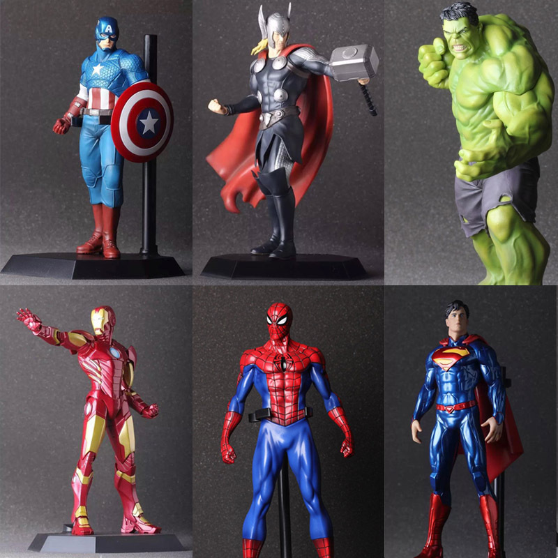 The Avengers Hulk PVC Iron Man Action Figure Thor Model Collection Toy Gift Captain America IronMan superhero Spiderman Batman(China (Mainland))
