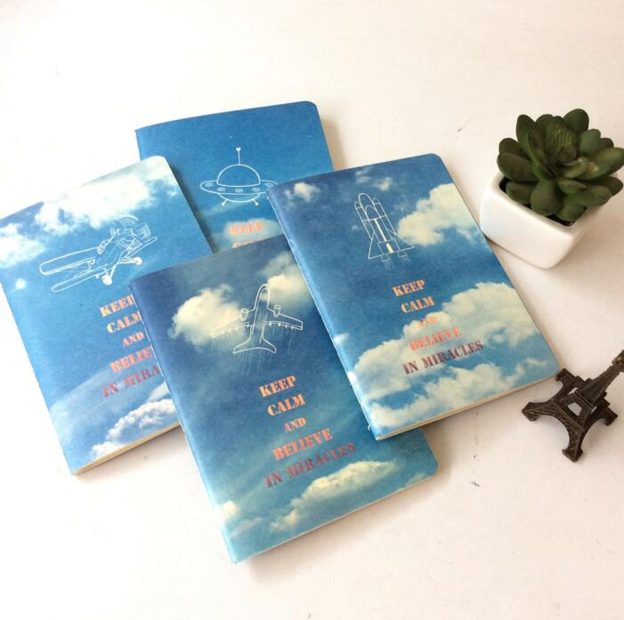 Blue Sky White Cloud 56K Notebook Diary Book Exercise Composition Notepad Escolar Papelaria Gift Stationery(China (Mainland))