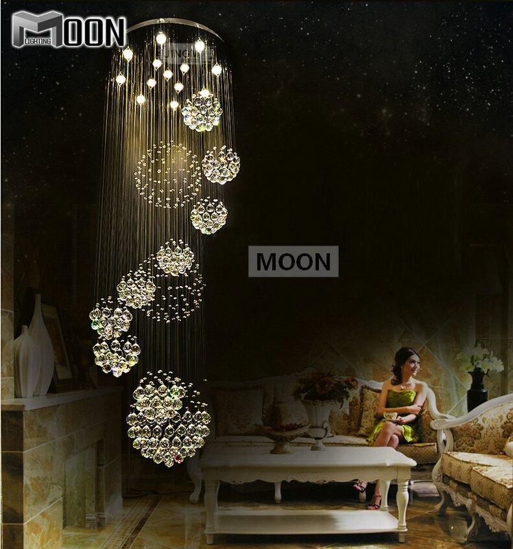 Moderne grand lustre en cristal luminaire pour le lobby