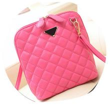 Hot Selling Women Leather Handbag Plaid Small Shell Women Messenger Bags Fashion Crossbody Women Bag