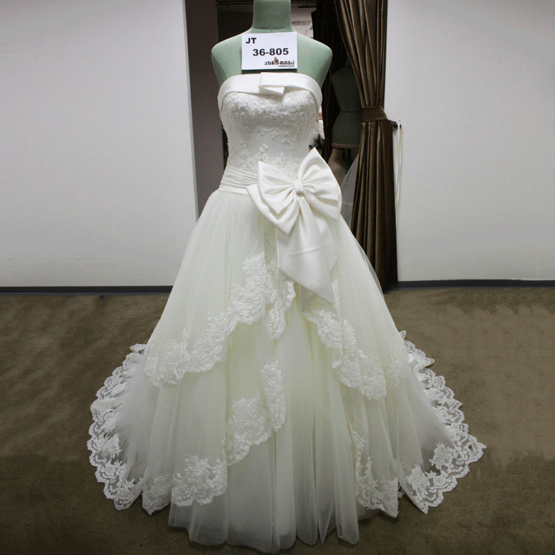 Buy luxury custom made sweetheart for A big wedding dress