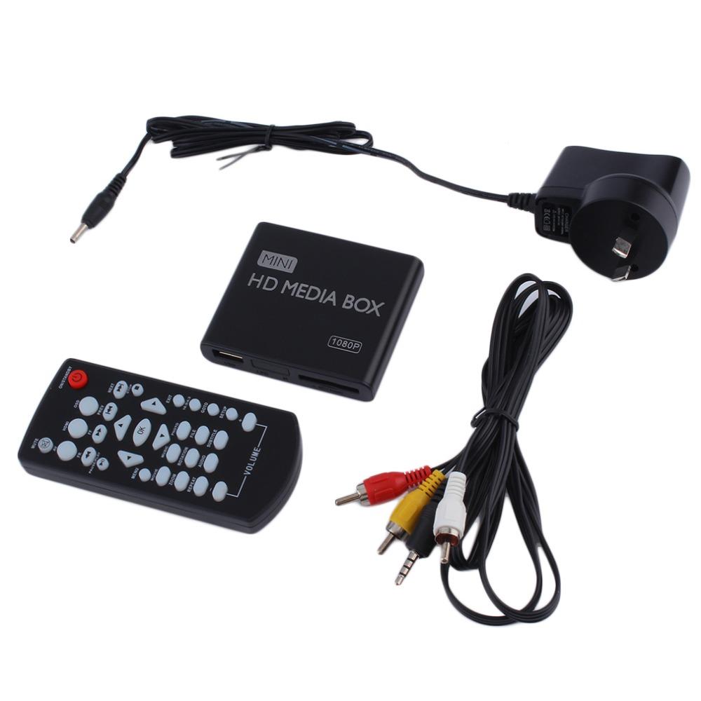AU EU US Plug Mini Media Player HDMI Media Box TV Video Multimedia Player Full HD 1080p Support MPEG/MKV/H.264 HDMI AV USB Black(China (Mainland))