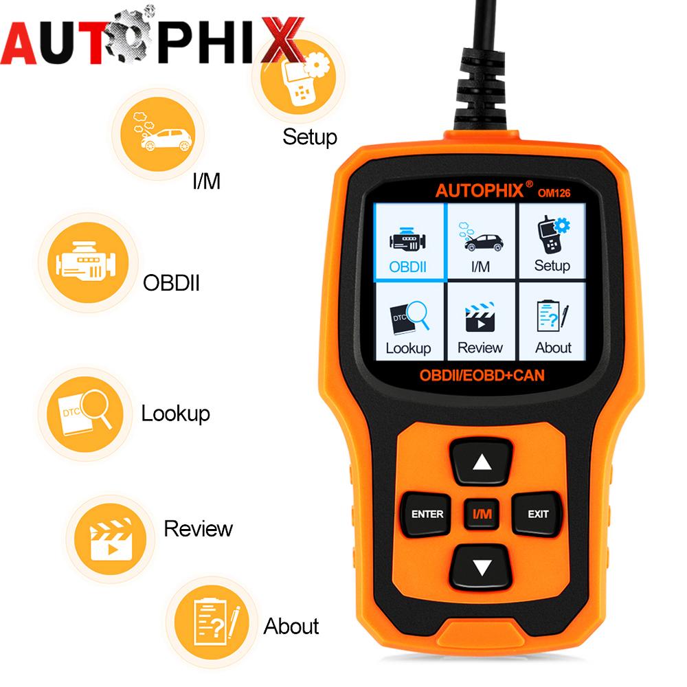 Newest autophix om126 obd2 scanner Diagnostic code readers scan tool obd2 code reader PK vs890 al519 autos scanner elm327(China (Mainland))