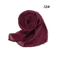 1 шт., простые блестящие хиджабы-шарфы, Балийский хлопок, ислам, женская мусульманская накидка, шаль, повседневный длинный тонкий головной пл...(China)