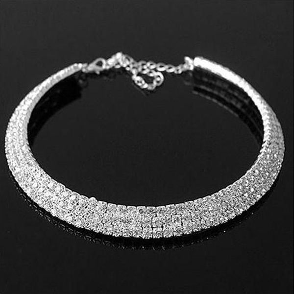Min. order is $10 (mix order) free shipping 2013 new jewelry european style fashion full rhinestone short design necklace chain<br><br>Aliexpress