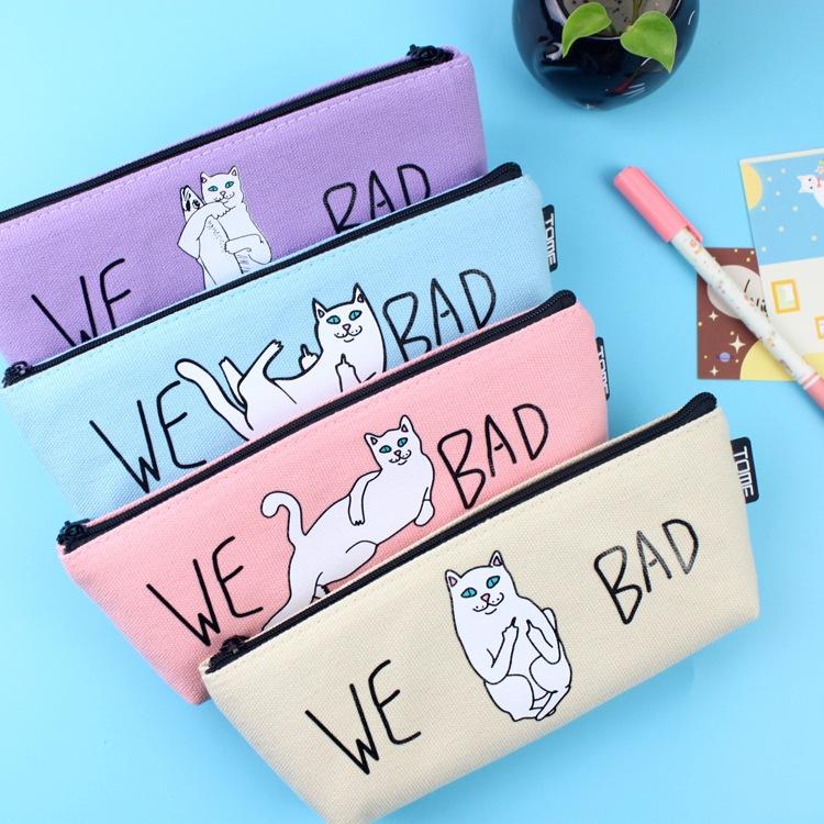(1Pc/Sell) Kawaii Pencil Case Canvas School Supplies Bts Stationery Gift Estuches School Cute Pencil Box Pencilcase Pencil Bag(China (Mainland))