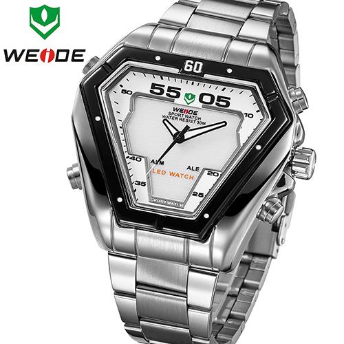 7 Colors WEIDE watch Military Watch Illuminated LED Digital Analog Men Quartz Wristwatch Fashion Army 2015 New Sale WH1102White(China (Mainland))