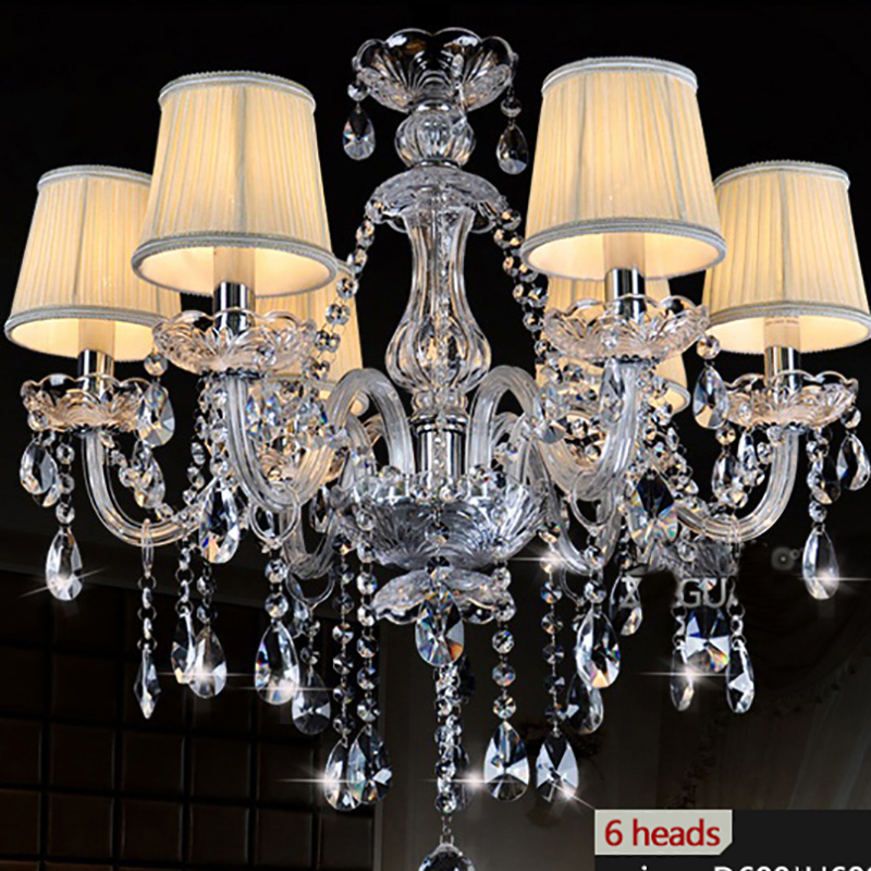 k9 clear crystal chandelier lampshade lustre de cristal para sala de jantar moderne modern. Black Bedroom Furniture Sets. Home Design Ideas