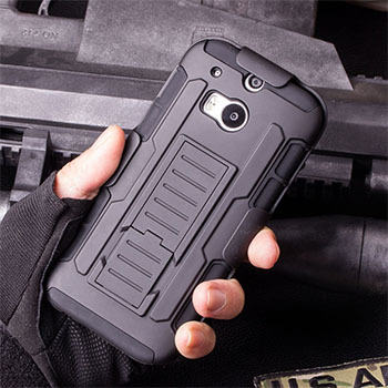 For HTC One M8 Case, Future Armor Impact Holster Hard Case For HTC One 2 M8 Mobile Phone Protective Cover + Flim + Touch Stylus(China (Mainland))