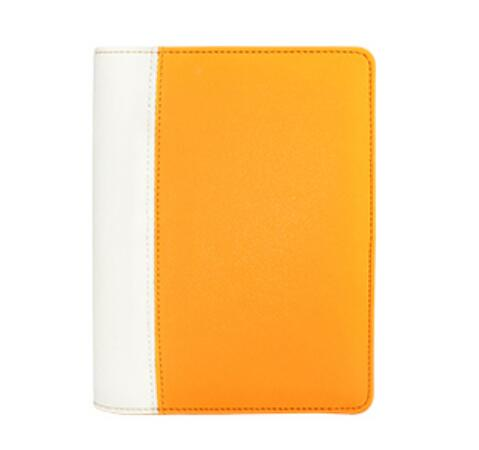 2016 Classic spiral journal fluoresced orange A6 planner PU leather organizer books diary 80 pages(China (Mainland))