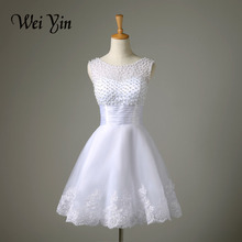 Robe De Mariage New White/Ivory Short Wedding Dress The Brides Sexy Lace Bridal Wedding Gown Vestido De Noiva Real Sample(China (Mainland))