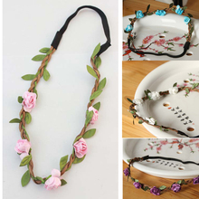 Trendy Beautiful Womens Bohemia Style Flower Shaped Hairbands Charming Hair Accessories 9 Colors Headwear-0007(China (Mainland))
