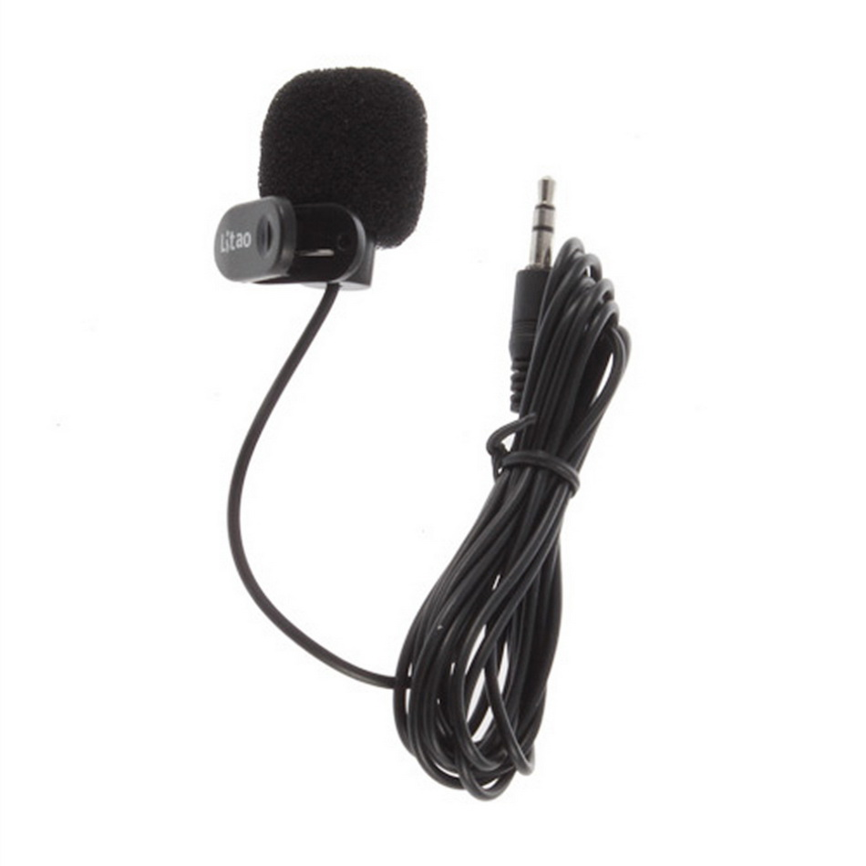10Pcs Black Hands Free Clip on 3.5mm Mini Studio Speech Microphone For Computer PC Laptop Brand New<br><br>Aliexpress