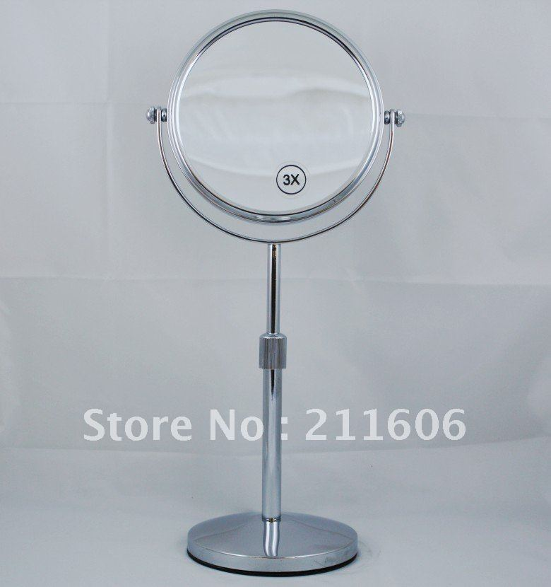 Cosmetic Mirror Stand Double Sided Round Magnifier Bathroom
