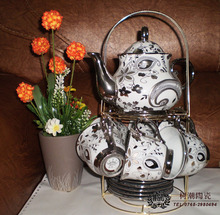 Set ceramic tea set fashion classic platinum teapot hoaxed belt coffee and tea