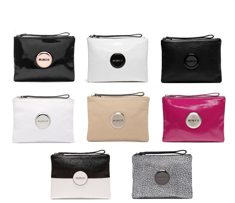 MIMCO Medium Pouch High end Private Luxury PU Flip Leather Handbag MIMCO Pouch Women Mini MIMCO