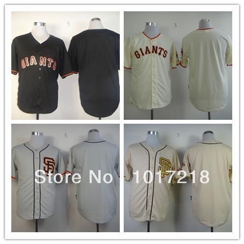 Best discount/ Men Baseball Jerseys San Francisco Giants #Blank Jersey,Embroidery Logos(China (Mainland))