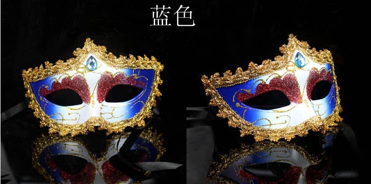 Performing party mask high-grade surrounding edge small princess coloured drawing or pattern (6 colors)(China (Mainland))