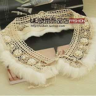 2012 Fashion Vintage rabbit fur all-match collar sub false ball cape - Luxury Beauty Square store