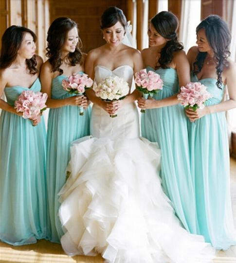 Online Get Cheap Jade Colored Bridesmaid Dresses Aliexpress