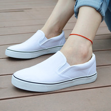 2015 Spring Women Loafers Flats Canvas Solid Casual Comfortable Round Toe Slip On Shoes VJ033