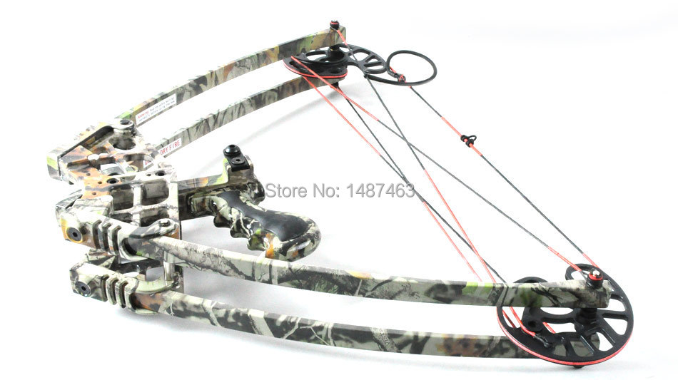 New Camouflage Triangle Hunting Compound Bow and Arrow with fiberglass bow limbs China Archery Hunting Arrow