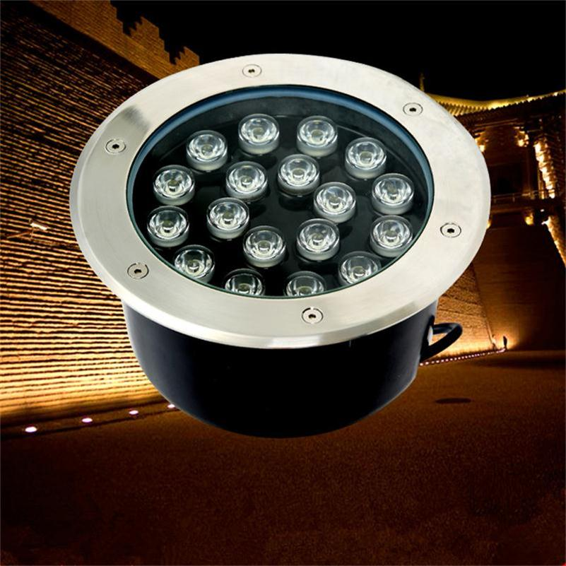 LED Underground Light 18W Round Buried Lamp Warm White/RGB Outdoor Stair Lighting DC12V/24V AC85-265V Recessed LED Floor Lights(China (Mainland))