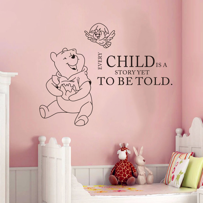 Sticker ourson chambre bb stickers stickers ourson for Autocollant mural chambre bb
