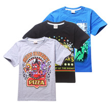 HHDD 2-13T Boys t shirt  2015 Summer Children T Shirts Boys Kids T-Shirt minecraft Clothing For Boys Baby Clothing
