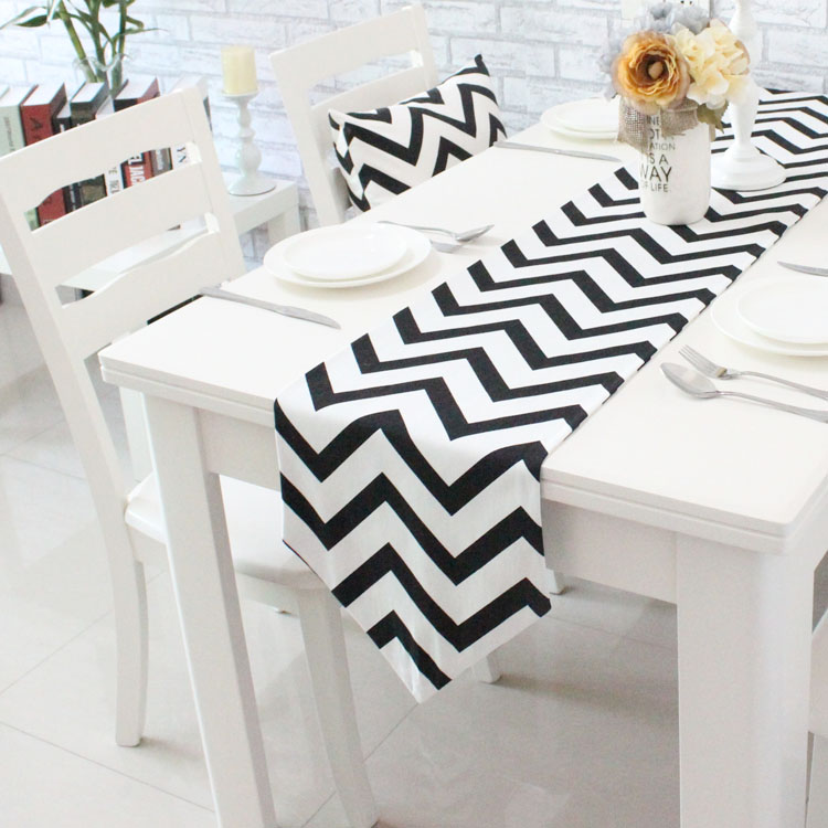 Wave Striped Table Runner Modern simple tea table cloth TV cabinet decorative bed flag(China (Mainland))