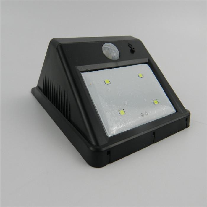 2Pcs Bright Outdoor PIR Motion Sensor Security Lights Lamps 4 LED Solar Powered Night Lamp Home(Hong Kong)