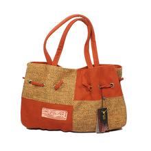 new fashion national style women linen shoulder bags middle size handbag vintage lady's party bag