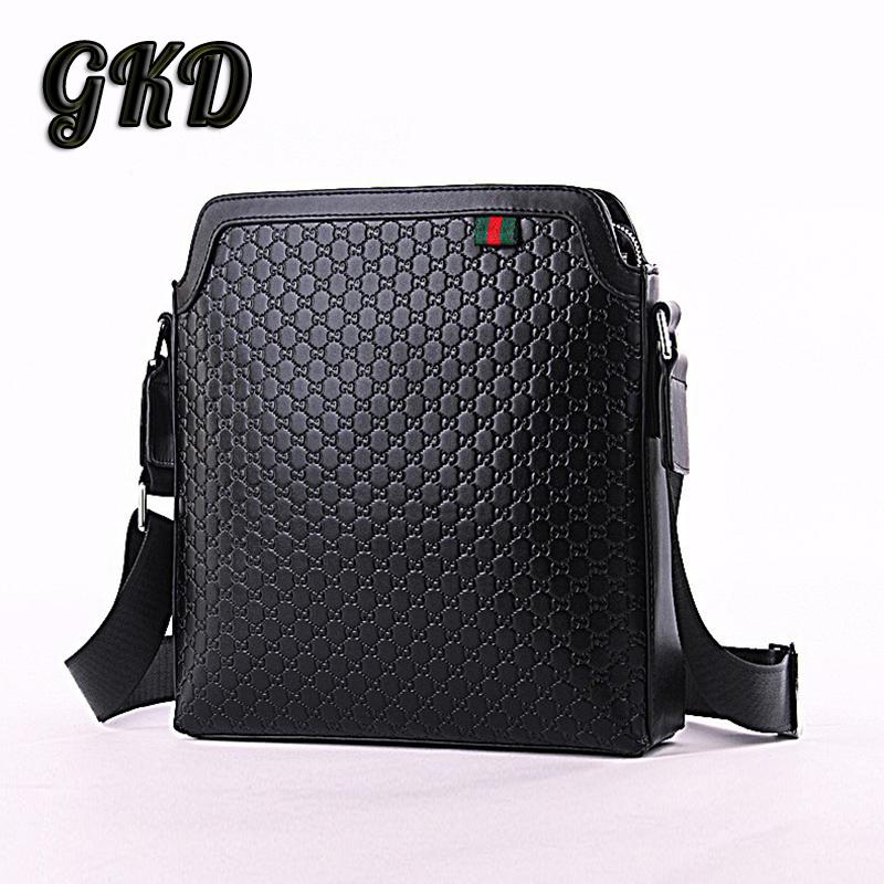 2015 European and American mens Genuine Leather shoulder bag Simple business casual diagonal Bag ZT052<br><br>Aliexpress