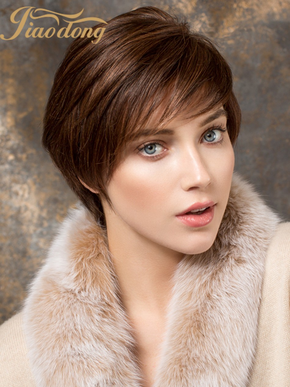 9A straight short haircuts brown wigs lace front human hair wigs &full lace human hair bob Wigs
