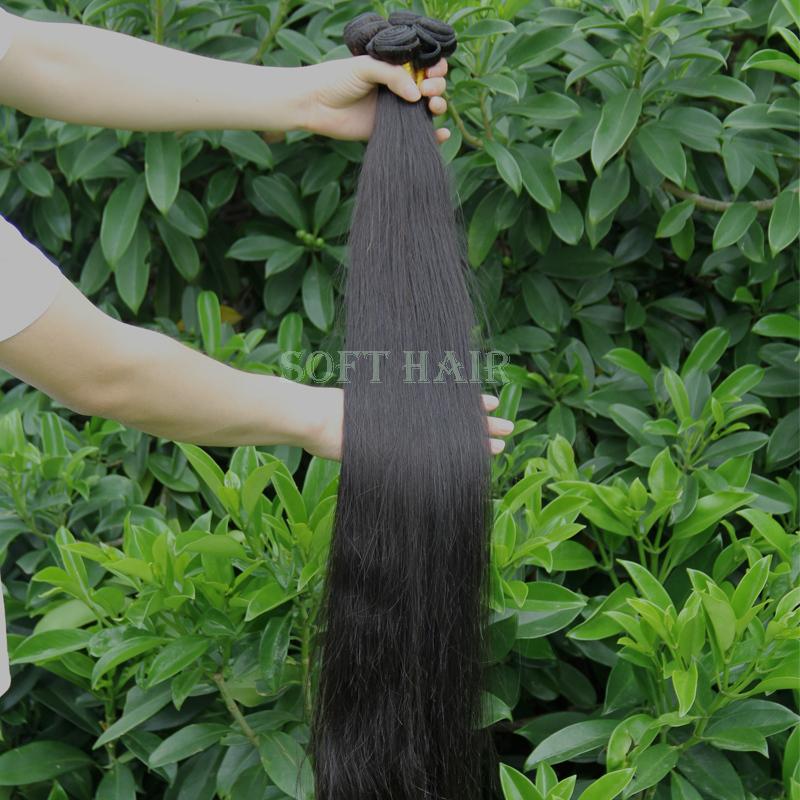 Brazilian hair weave bundles wholesale cheap grade 6a unprocessed virgin hair weave 4 pcs lot brazilian virgin hair straight(China (Mainland))