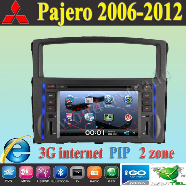 "8"" Car DVD player with GPS navigation  for MITSUBISHI Pajero V97 V93 2006 2007 2008 2009 2010 2011 2012 /  3G internet"