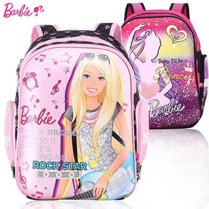 2015 newest Barbie school bags kids backpack for school for children satchel bags for girls shoulder relief EVA Reflective kid<br><br>Aliexpress