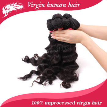 "Free shipping virgin brazilian bouncy wave hair 14"" to 22"",10pcs/lot, wholesale  unprocessed hair extensions"